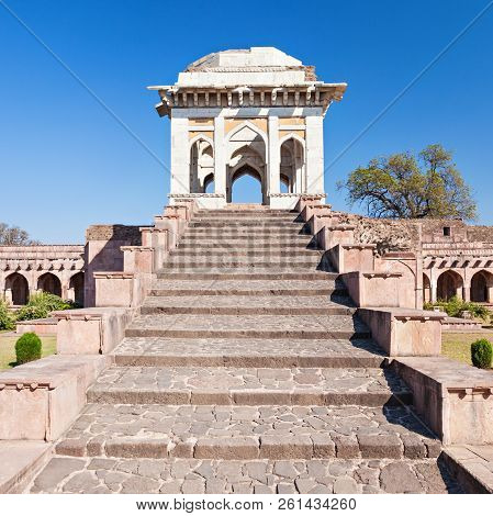 Ahrafi Mahal In Mandu, Madhya Pradesh, India