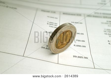 Coin On Bank Statement