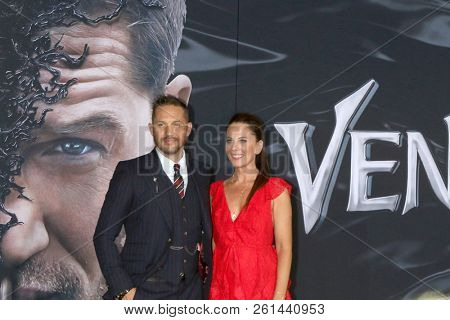 LOS ANGELES - OCT 1:  Tom Hardy, Kelly Marcel at the