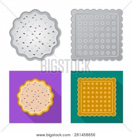 Isolated Object Of Biscuit And Bake Sign. Collection Of Biscuit And Chocolate Stock Vector Illustrat
