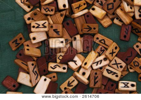 Lavalieres From Wood Plates With Signs