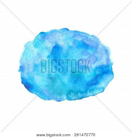 Watercolor Hand Painted Background. Spot Isolated On White. Abstract Template Design.