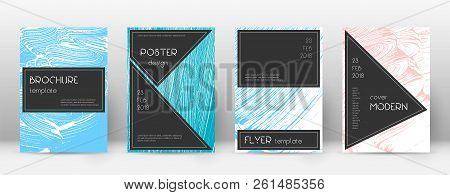 Cover Page Design Template. Black Brochure Layout. Beauteous Trendy Abstract Cover Page. Pink And Bl