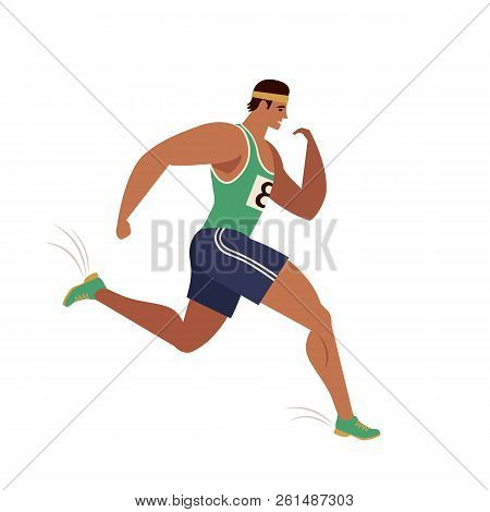 Jogging Person. Runner In Motion. Running Men Sports Background. People Runner Race, Training To Mar