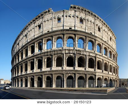 The Colosseum, the world famous landmark in Rome, Italy poster