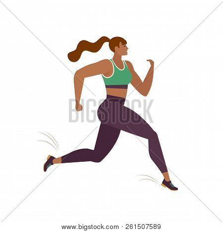 Jogging Prson. Runner In Motion. Running Women Sports Background. People Runner Race, Training Marat