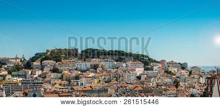Panoramic View Of Miradouro At Lisbon, Portugal, Europe