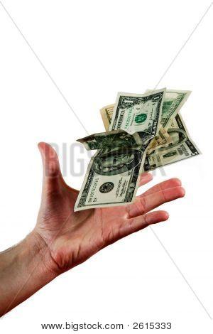 Hand Throwing Money