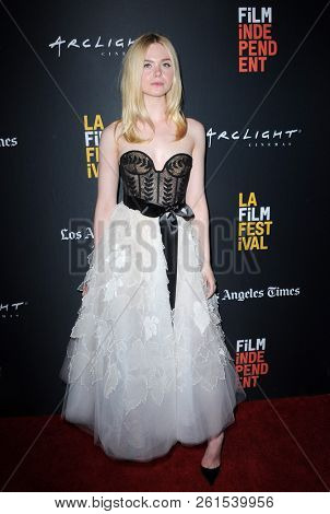 Elle Fanning at the 2018 LA Film Festival screening of 'Galveston' held at the ArcLight Culver City in Culver City, USA on September 23, 2018.