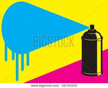 graffiti neon spray