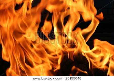 Flames or fire for background use