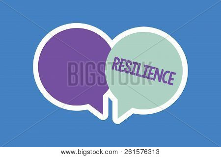 Word Writing Text Resilience. Business Concept For Capacity To Recover Quickly From Difficulties Per