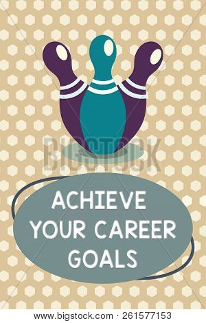 Word Writing Text Achieve Your Career Goals. Business Concept For Reach For Professional Ambition An