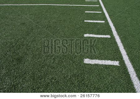 Yardlines of a football field