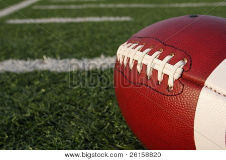 American football with yardlines