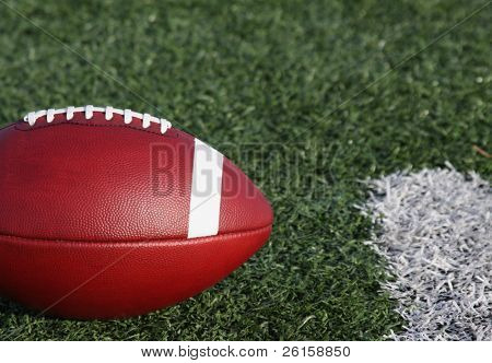 American football with copy space