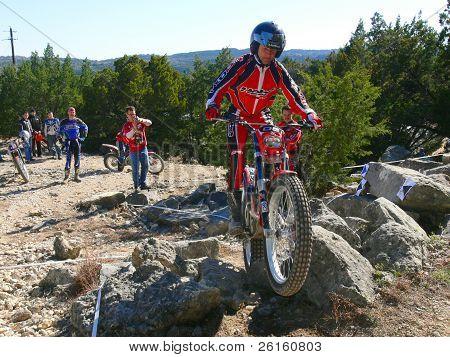 Kevin Schwantz on Trials Bike