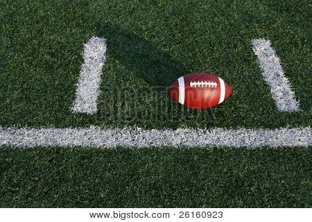 Football between the hashmarks