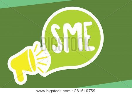 Writing Note Showing Sme. Business Photo Showcasing Company With No More Than 500 Employees Small Me