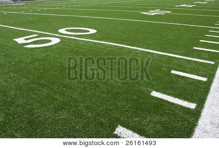 Yard Lines of a Football Field poster