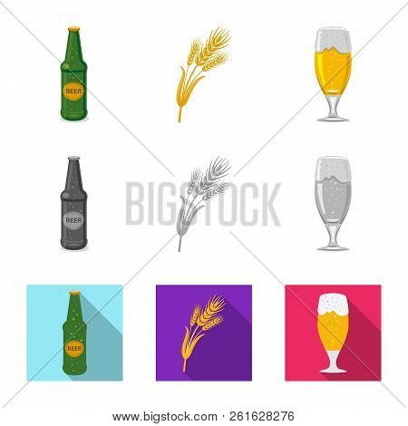 Isolated Object Of Pub And Bar Symbol. Collection Of Pub And Interior Vector Icon For Stock.