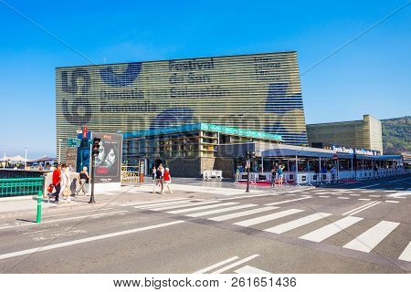 San Sebastian, Spain - September 29, 2017: The Kursaal Congress Centre And Auditorium Is A Complex W