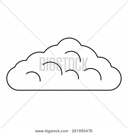 Wet Cloud Icon. Outline Illustration Of Wet Cloud Icon For Web