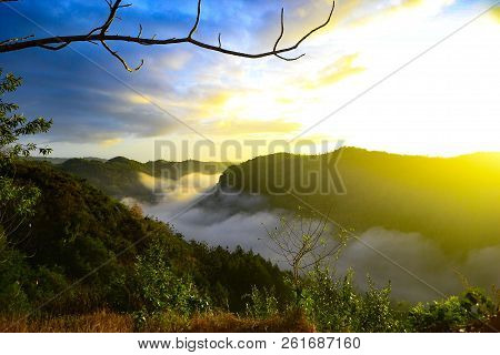 Panguk Hill Is Located In Bantul, Yogyakarta, Indonesia. This Photo Was Taken At Sunrise, August 201