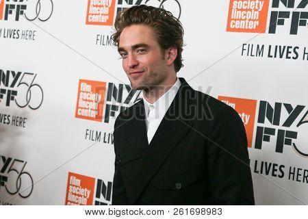 NEW YORK - OCT 2: Actor Robert Pattinson attends the