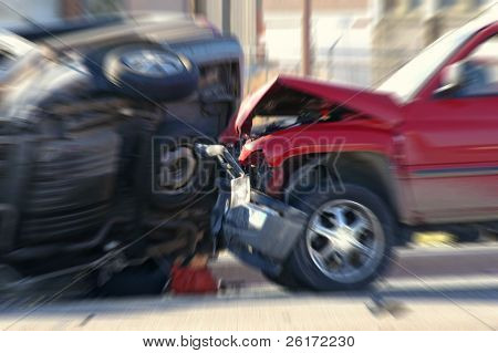Car Wreck with a car rolled over
