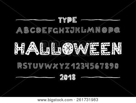 Halloween Font  Hand Vector & Photo (Free Trial) | Bigstock