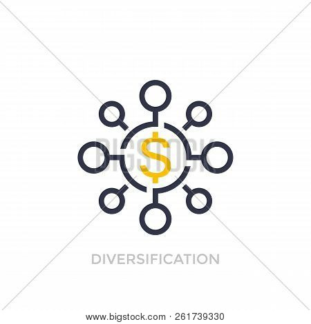 Financial Diversification, Diversified Investment Icon, Eps 10 File, Easy To Edit