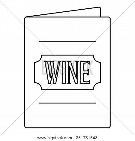 Menu Wine List Icon. Outline Illustration Of Menu Wine List Icon For Web