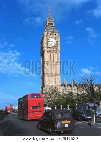 Big Ben And London Traffic