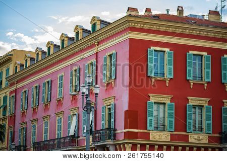 Detail Of Place Massena In Nice, France.