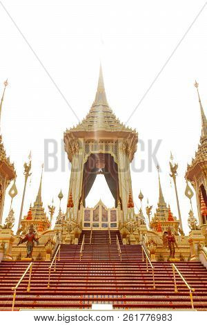 Bangkok, Thailand - November 04, 2017; The Royal Crematorium For The Late King Bhumibol Adulyadej  A