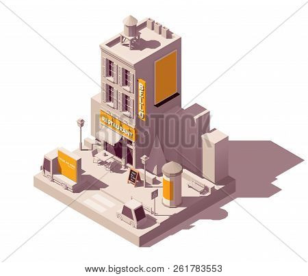 Vector Isometric Low Poly Outdoor Advertising Media Types And Locations Illustration Representing St