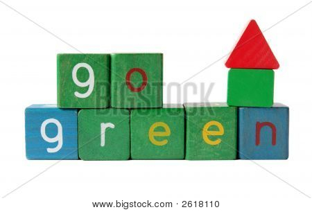 The Words 'Go Green' With Block House