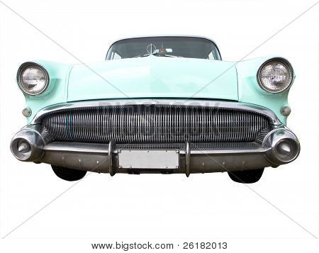 1957 Buick Roadmaster isolated with clipping path