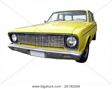 1967 Chrysler Valiant isolated with clipping path