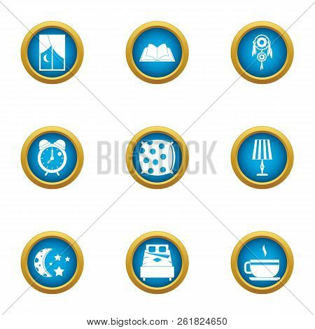 Nighttime Icons Set. Flat Set Of 9 Nighttime Vector Icons For Web Isolated On White Background