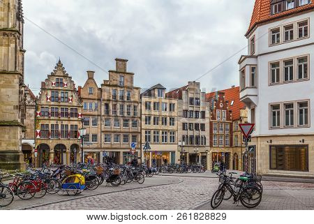 Prinzipalmarkt Is Historic Street With Buildings With Picturesque Pediments Attached To One Another