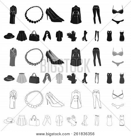 Women S Clothing Cartoon Icons In Set Collection For Design.clothing Varieties And Accessories Vecto