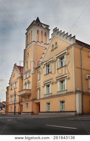 City hall in Nowa Sol, Lubusz Voivodeship, Poland
