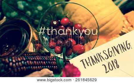 Thank You Thanksgiving 2018 Happy Thanksgiving Card For Giving Thanks On Social Networks Or To Busin