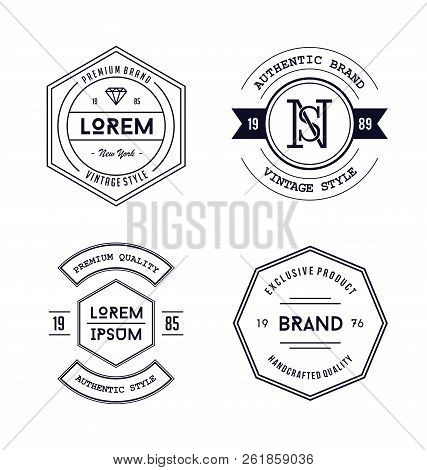 Vintage Badge Logo Design. Vintage Badge Logo Design