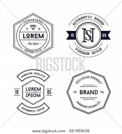 Vintage Badge Logo Design. Vintage Badge Logo Design