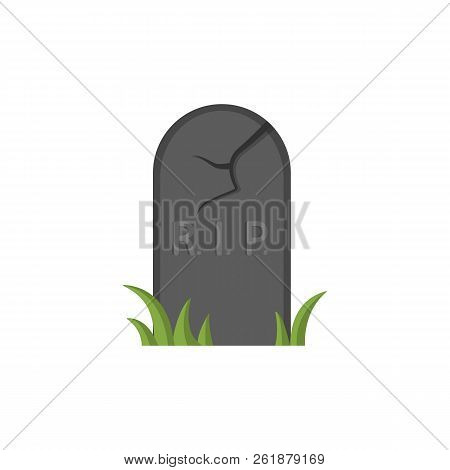 Grave Icon Isolated On White Background. Headstone, Rip Image. Design Element For Halloween. Vector