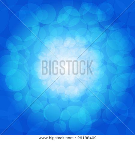Fondo de luces azules brillantes