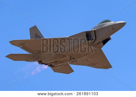 Avalon, Australia - March 3, 2013: United States Air Force (usaf) Lockheed Martin F-22a Raptor Fifth